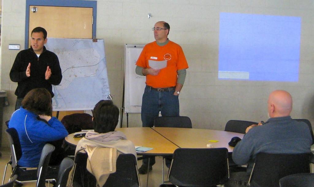Malden Mayor Gary Christenson speaks at a planning meeting.