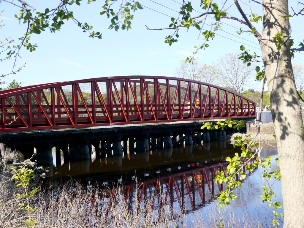Another view of the new bridge over the marsh in Saugus.